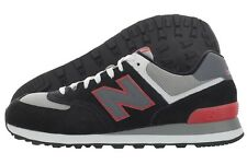 New Balance 574 Classic ML574SBS Black Red Suede Mesh Casual Shoes Medium Men