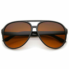 sunglassLA Retro Large  Blue Blocking Lens Aviator Sunglasses