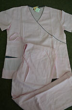 New style #2400 By Beverly Hills Pink Grey Scrub set for Nurses & Medical Staff