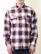 Fatal Clothing Sand Red Plaid Flannel Long Sleeve Button Up Shirt