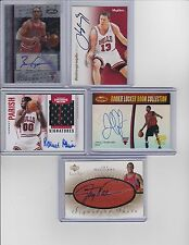 CHICAGO BULLS 25 CARD FACTORY AUTOGRAPH (5) SIGNED LOT + 10 RC 10 SERIAL #'D LOT