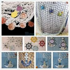 Fishing Net W/Shells Nautical Anchor Wall Beach Decorative Indoor Outdoor Decor