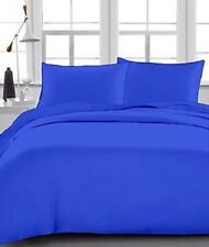 1 Fitted + 2 Pillow case 1200 Thread Count Egyptian Cotton Egyptian Blue Solid