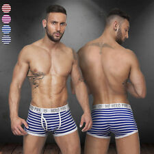 Stylish Mens Striped Breathable Underwear Elastic Waist Boxers Brief Gibs Shorts