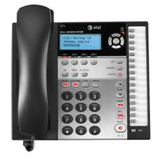 AT&T - Corded Speakerphone with Intercom and Caller ID/Call Waiting Black/Silver