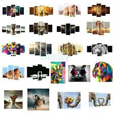 Canvas Painting Oil Print Animal Landscape Wall Art Picture Hanging Decor 4pcs