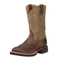 Ariat Men's Heritage Earth Brown Crepe Sole Western Boots 10002559