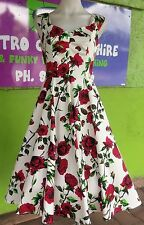 Women's Rose Floral Ditsy Summer Dress 50s (last one size 8)