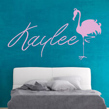 Personalised Name Wall Sticker Flamingo Wall Decal Kids Bedroom Home Decor
