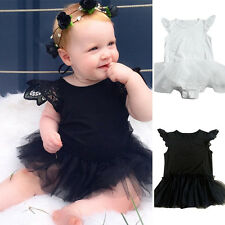 New Baby Girls Clothes Bodysuit Kids Lace Tulle Floral Romper Jumpsuit Outfits