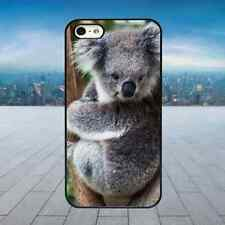 CUTE FLUFFY KOALA BEAR Black Rubber Phone Case Cover Fits Iphone Models