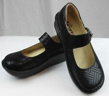 Alegria Professional Paloma Black Dazzler Nurses/Doctor/Shoes/Chef Leather Clogs