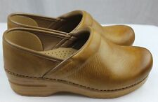 Dansko Professional Honey Distressed Doctor/Nurses/Chef Shoes Leather Clogs