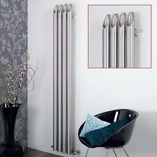 "AEON ""Bamboo"" Designer Brushed Stainless Steel Tubular Radiators (5 Sizes)"