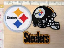 NFL Pittsburgh Steelers Embroidered Iron On Patch logo helmet high quality