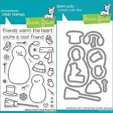Lawn Fawn MAKING FROSTY FRIENDS Clear Stamps Only OR Clear Stamp and Die Bundle