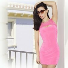 """Arden B"" Sexy Stretching Fitting Pink Clubwear Cocktail Mini Dress S M L Junior"