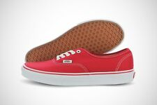 Vans Authentic VN000EE3RED Red White Canvas Classic Shoes Medium (D, M) Men
