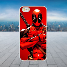 Deadpool Muscle Superhero White Rubber Phone Case Cover Fits Iphone Models