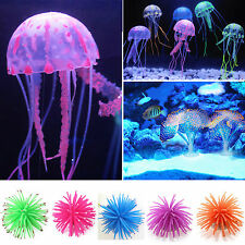 Silicone Artificial Simulation Coral Jellyfish Aquarium Fish Tank Decoration US