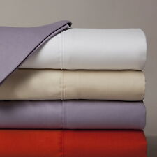 """800-Thread-Count 1PC Super Soft Fitted Sheet Solid 100% Cotton 28"""" Deep Pocket"""