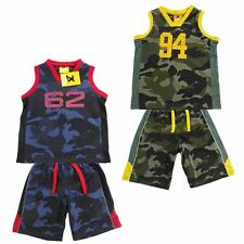 Boys 2 piece summer/basketball Camo set Muscle Top Singlet and Shorts Size 4 5 6