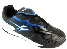 Gola Net Older Boy's Black & Blue Lace Up Astroturf Football Style Trainers New