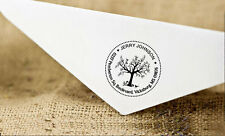 Wood Mounted Custom Rubber Stamp Family Return Address Unmounted Round Stamp