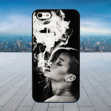 RIHANNA SMOKE  Black Hard Phone Case Cover Fits Iphone Models