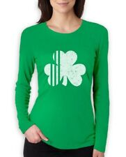 Saint Patrick's Day Irish Shamrock Four-Leaf Clover Women Long Sleeve T-Shirt