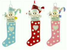PERSONALISED CHRISTMAS TREE DECORATION/ORNAMENT BABYS FIRST CHRISTMAS STOCKINGS