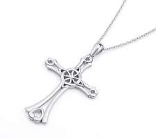 Celtic CHRISTIAN CROSS Sterling Silver Pendant Chain Necklace Gift Jewelry 925