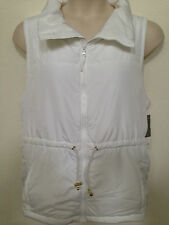 LAST 3X LEFT $89 (NWT) Charter Club Womans Plus White Mixed-Media Soft Puff Vest