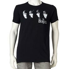 """OFFICIAL LICENSED """"THE BEATLES"""" APPLE ADULT MENS BLACK TEE T-SHIRT BNWT NEW"""