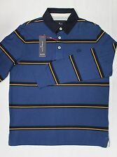 M&S Mens Blue Harbour Supersoft Rugby Polo Shirt Top Blue Mix BNWT Size M L XXL