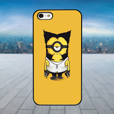 WOLVERINE MINION 2 Black Hard Phone Case Cover Fits Iphone Models