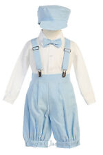 Baby Toddler Boys Light Blue Knickers Vintage Suit Outfit Set Easter Wedding G
