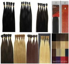 """Women Beauty 24"""" Stick-tipped Straight Remy Human Hair Extensions 100s 9Colors"""