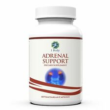 1 Body Adrenal Support 30 day  | Vitamin B12 B5 B6 Magnesium Ginger Root Extract
