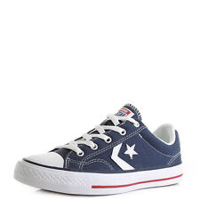 Unisex Converse Con Star Player Oxford Navy White Low Top Trainers  Size