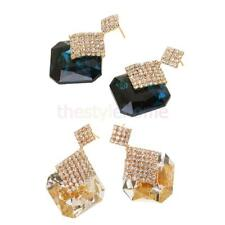 Sparking Women Lady Girls Retro Classic Crystal Earrings Ear Stud Drop Earrings