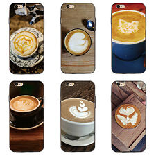 FLORAL COFFEE PRINT PHONE CASE COVER FOR IPHONE 6 7 SAMSUNG GALAXY S6 S7 SAUCY