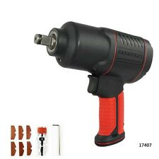 "Pneumatic Impact Wrench 1/2"" Air Pressure Wrench Gun Tool Torque 450ft-lb"