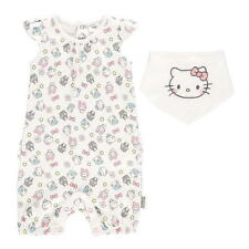 Baby Girl Official Hello Kitty Summer Romper & Bib Outfit Set