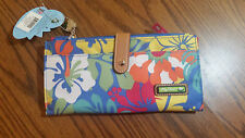 Lily Bloom Large Travel Wallet Clutch FLORAL PRINT NWT
