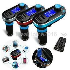 Wireless LCD Car Kit FM Radio Transmitter MP3 Music Player SD TF USB 2.0 Charger