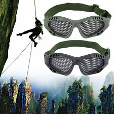 New Tactical Outdoor Steel Mesh Eyes Protective Goggles Glasses FE