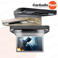 """Car Overhead Flip Down Roof Mount Ceiling 13"""" DVD Player Monitor HDMI 1920x1080"""