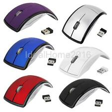 2.4G Wireless Foldable Optical Mouse Mice USB2.0 Receiver for Computer PC Laptop