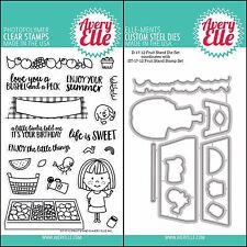 "Avery Elle ""FRUIT STAND"" Clear Stamps Only OR Clear Stamp and Die Bundle"